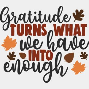 Gratitude turns what we have into enough Thumbnail